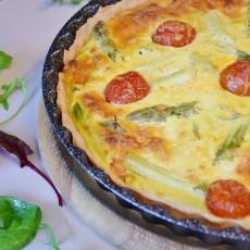 Sýrový koláč s rajčátky a bazalkou: recept